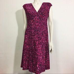 Chaps short sleeve dress size L